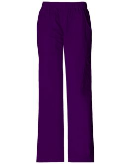 Cherokee Workwear Scrubs Stretch Women's PETITE Mid-Rise Pull-On Pant Cargo Pant