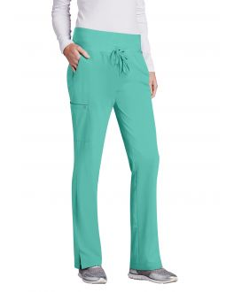 Barco One Scrubs Women's PETITE 5 Pockets Knit Waist Cargo Pant