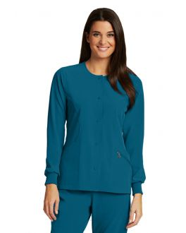 Barco One Scrubs 5409 Women's 4 Pockets Perforated Princess Warmup Jacket