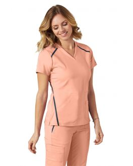 Grey's Anatomy Scrubs Impact Women's 3 Pockets Cross Over V-Neck Top