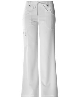 Dickies Xtreme Stretch Scrubs Women's TALL Jr. Fit Mid-Rise Drawstring Cargo Pant