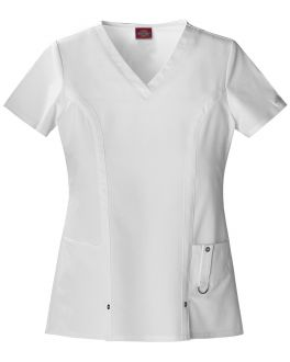 Dickies Xtreme Stretch Scrubs Women's Jr. Fit V-Neck Top