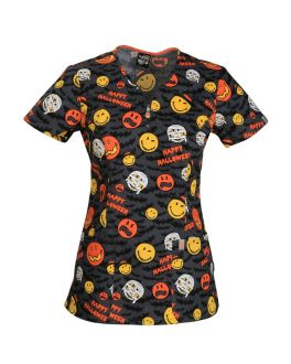 Code Happy Bats About Halloween V-Neck Top