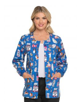 Dickies Scrubs Unconditional Love Snap Front Warm-Up Jacket