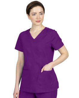 Healing Hands Scrubs Purple Label Women's Jill V-Neck Top