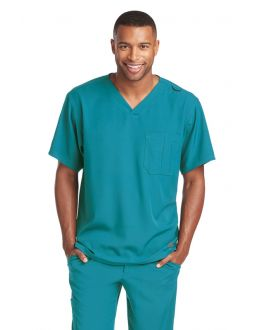 Skechers Scrubs Men's 1 Pocket Structure Crossover V-Neck Top