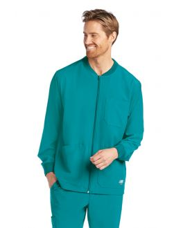 Skechers Scrubs Men's 3 Pocket Structure Cuffed Warm-Up Jacket