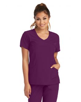 Skechers Scrubs Women's 3 Pocket Reliance Mock Wrap Top