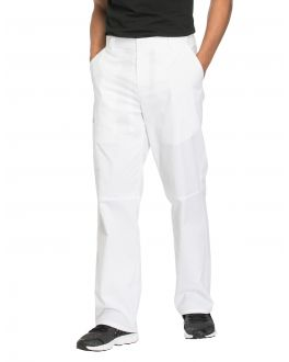 Cherokee Workwear Scrubs Stretch Men's SHORT Mid Rise Tapered Leg Zip Fly Pant