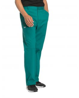 Cherokee Workwear Scrubs Stretch Men's TALL Mid Rise Tapered Leg Zip Fly Pant